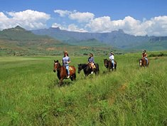 Horse riding in the Drakensberg